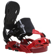 Flow Nexus Hybrid Snowboard Bindings, Black-Red, medium