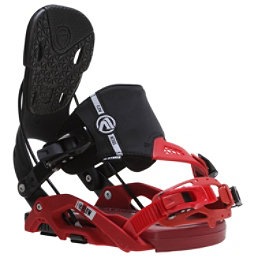 Flow Nexus Hybrid Snowboard Bindings, Black-Red, 256