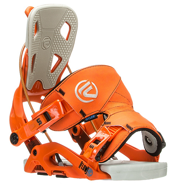 Flow Fuse Snowboard Bindings, Orange, 600
