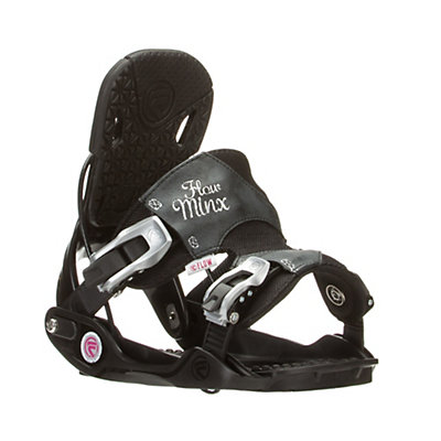 Flow Minx Womens Snowboard Bindings, Black, viewer