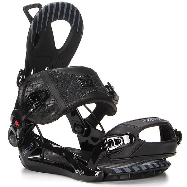Gnu Gateway Snowboard Bindings, Black, 600