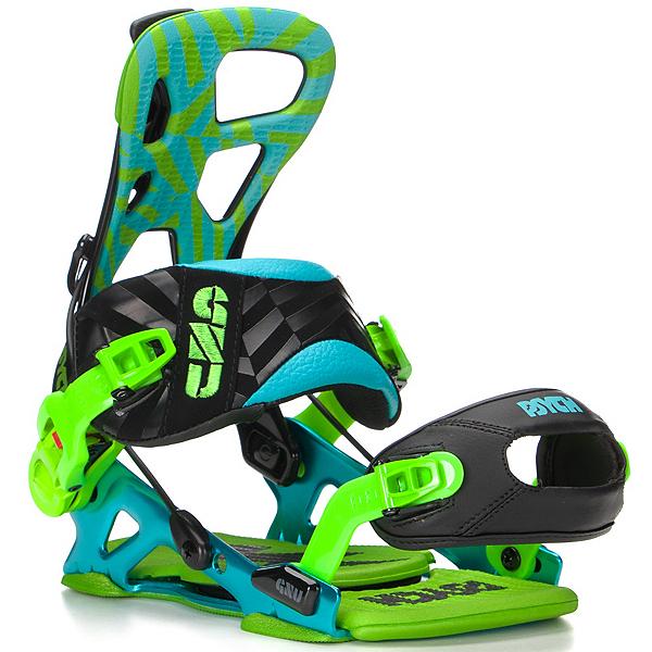 Gnu Psych Snowboard Bindings, Blue, 600
