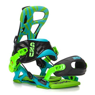 Gnu Psych Snowboard Bindings, Blue, viewer