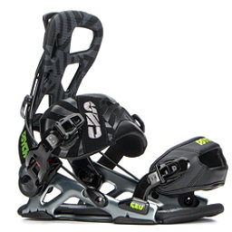 Gnu Psych Snowboard Bindings, Black, 256