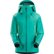 Arc'teryx Beta LT Womens Shell Ski Jacket, Seaglass, medium