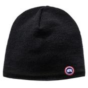 Canada Goose Merino Wool Beanie Hat, Black, medium