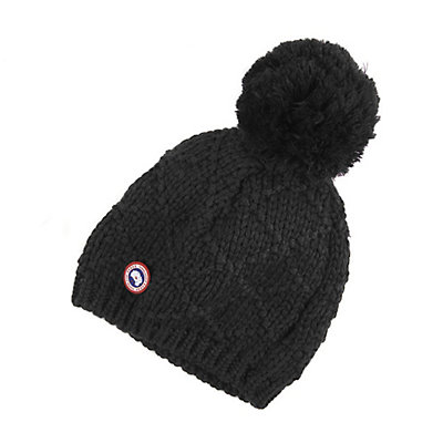 Canada Goose Oversized Pom Toque Womens Hat, Black, viewer