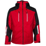 Obermeyer Foundation Mens Insulated Ski Jacket, True Red, medium