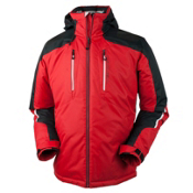 Obermeyer Foundation Tall Mens Insulated Ski Jacket, True Red, medium