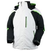 Obermeyer Ranger Mens Insulated Ski Jacket, White, medium