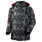 Obermeyer Charger Mens Insulated Ski Jacket, Snow Camo, medium