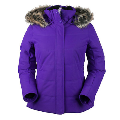 Obermeyer Tuscany with Faux Fur Womens Insulated Ski Jacket, White, viewer