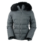 Obermeyer Bombshell Womens Insulated Ski Jacket, Charcoal, medium