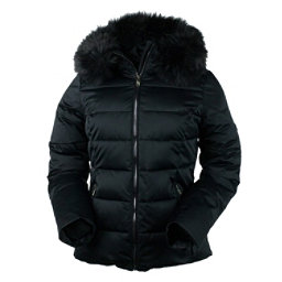 Obermeyer Bombshell with Faux Fur Womens Insulated Ski Jacket, Black, 256
