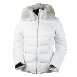 Obermeyer Bombshell with Faux Fur Womens Insulated Ski Jacket, White, 256