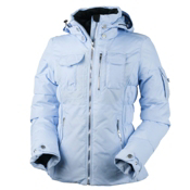 Obermeyer Leighton Womens Insulated Ski Jacket, Ice Blue, medium