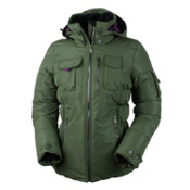 Obermeyer Leighton Luxe Womens Insulated Ski Jacket, Stone Green, medium