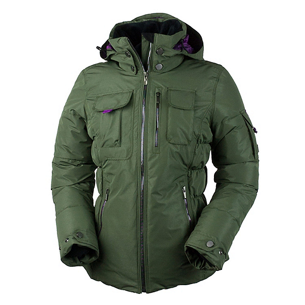 Obermeyer Leighton Luxe Womens Insulated Ski Jacket, Stone Green, 600