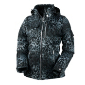 Obermeyer Leighton Luxe Womens Insulated Ski Jacket, Leopard Print, medium