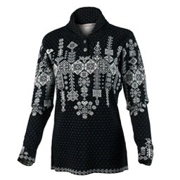Obermeyer Cabin Knit Pullover Womens Sweater, Black, 256