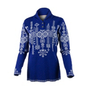 Obermeyer Cabin Knit Pullover Womens Sweater, Regal Blue, medium