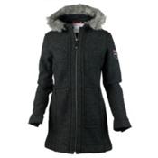 Obermeyer Ginger Boiled Wool Coat Womens Jacket, Titanium, medium