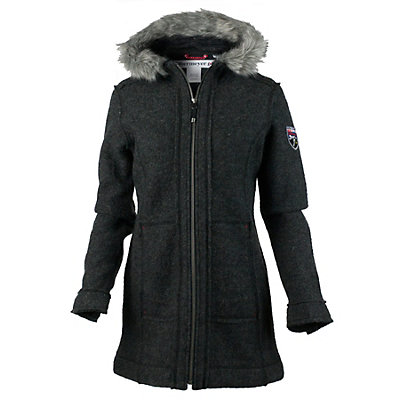 Obermeyer Ginger Boiled Wool Coat Womens Jacket, Titanium, viewer