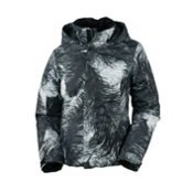 Obermeyer Jade Girls Ski Jacket, Feather Print, medium