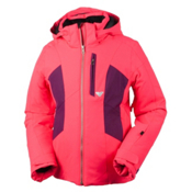 Obermeyer Gracey Girls Ski Jacket, Day Glow Pink, medium