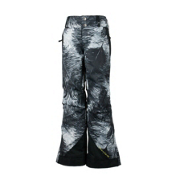 Obermeyer Lea Teen Girls Ski Pants, Feather Print, medium