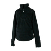 Obermeyer Furry Fleece Top Kids Midlayer, Black, medium