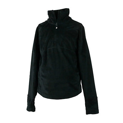 Obermeyer Furry Fleece Top Kids Midlayer, Black, viewer