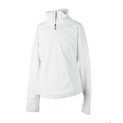 Obermeyer Furry Fleece Top Kids Midlayer, White, medium