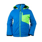 Obermeyer Ridge Boys Ski Jacket, Sonic Blue, medium