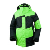 Obermeyer Rebel Jacket Boys Ski Jacket, Glowstick, medium