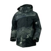 Obermeyer Rebel Jacket Boys Ski Jacket, Storm Camo, medium