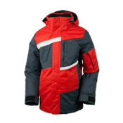 Obermeyer Rebel Jacket Boys Ski Jacket, Lava, medium