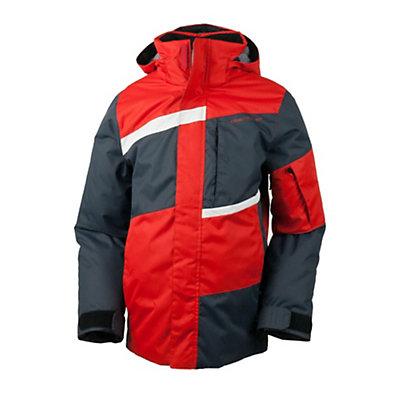 Obermeyer Rebel Jacket Boys Ski Jacket, Lava, viewer