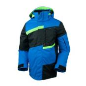 Obermeyer Rebel Jacket Boys Ski Jacket, Sonic Blue, medium