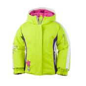 Obermeyer Pico Toddler Girls Ski Jacket, Lime, medium