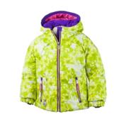 Obermeyer Arielle Toddler Girls Ski Jacket, Lemon Alpen Print, medium