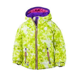 Obermeyer Arielle Toddler Girls Ski Jacket, Lemon Alpen Print, 256