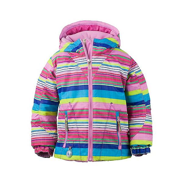 Obermeyer Arielle Toddler Girls Ski Jacket, Carnival Stripe, 600