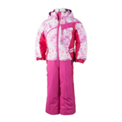 Obermeyer Starlet Toddlers One Piece Ski Suit, Pink Alpen Print, medium