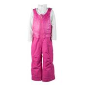 Obermeyer Chacha Bib Toddler Girls Ski Pants, Wild Pink, medium