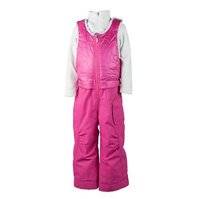 Obermeyer Chacha Bib Toddler Girls Ski Pants, Wild Pink, viewer
