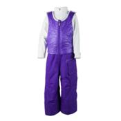 Obermeyer Chacha Bib Toddler Girls Ski Pants, Iris Purple, medium