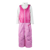Obermeyer Chacha Bib Toddler Girls Ski Pants, Rosebud, medium