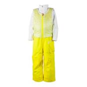 Obermeyer Chacha Bib Toddler Girls Ski Pants, Lemon, medium