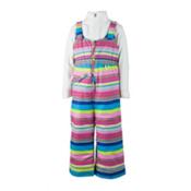 Obermeyer Snoverall Print Toddler Girls Ski Pants, Carnival Stripe, medium